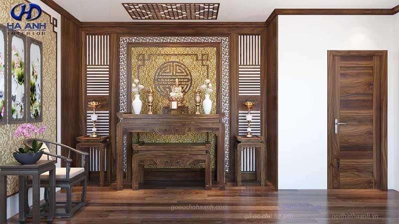 nội thất gỗ óc chó Hà Anh là nơi chuyên cung cấp bàn thờ gỗ óc chó chất lượng và uy tín nhất