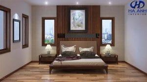 Giường ngủ gỗ óc chó tự nhiên HN-601