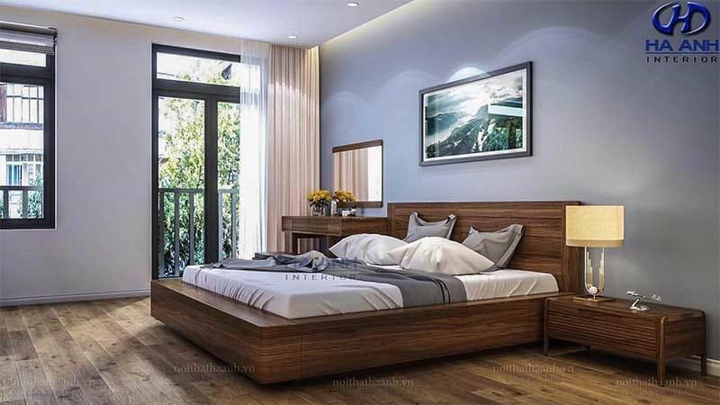 Giường ngủ gỗ óc chó tự nhiên HN 6010