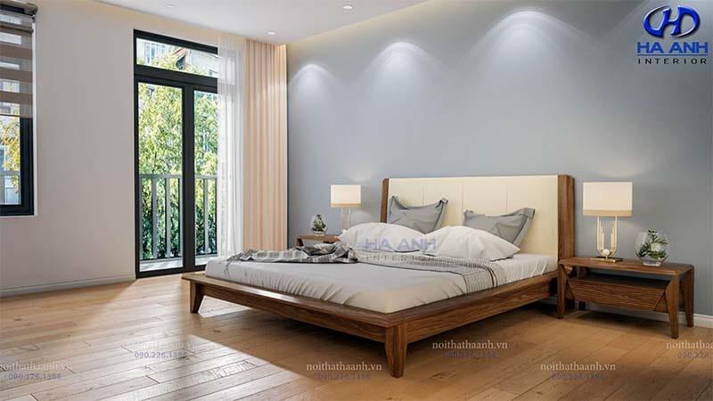 Giường ngủ gỗ óc chó tự nhiên HN 6011