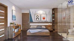Giường ngủ gỗ óc chó tự nhiên HN 6012 đẹp