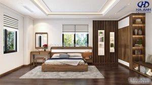 Giường ngủ gỗ óc chó tự nhiên HN 6014