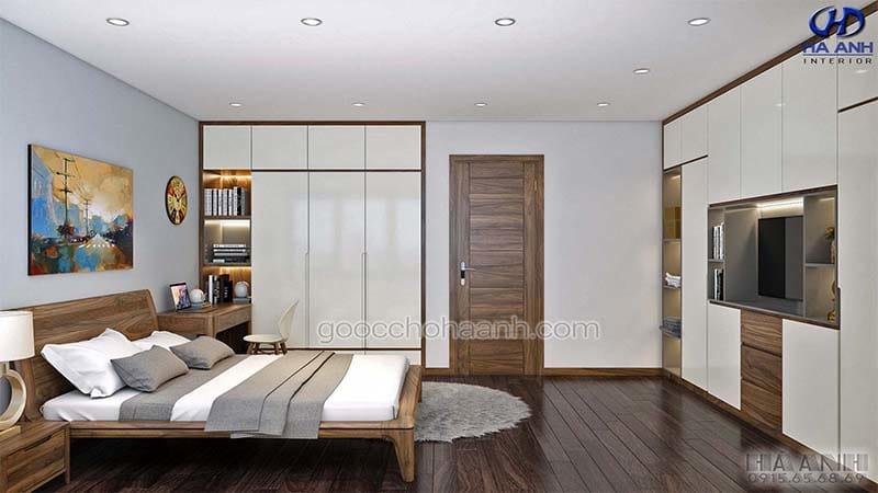 Giường ngủ gỗ óc chó tự nhiên HN 6015