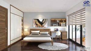 Giường ngủ gỗ óc chó tự nhiên HN 6015 đẹp
