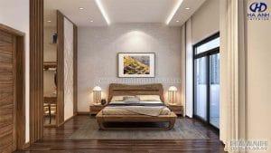 Giường ngủ gỗ óc chó tự nhiên HN 6017 đẹp