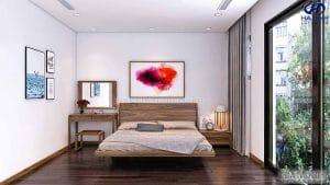 Giường ngủ gỗ óc chó tự nhiên HN 6018
