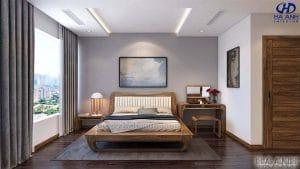 Giường ngủ gỗ óc chó tự nhiên HN 6019