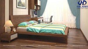 Giường ngủ gỗ óc chó tự nhiên HN-602
