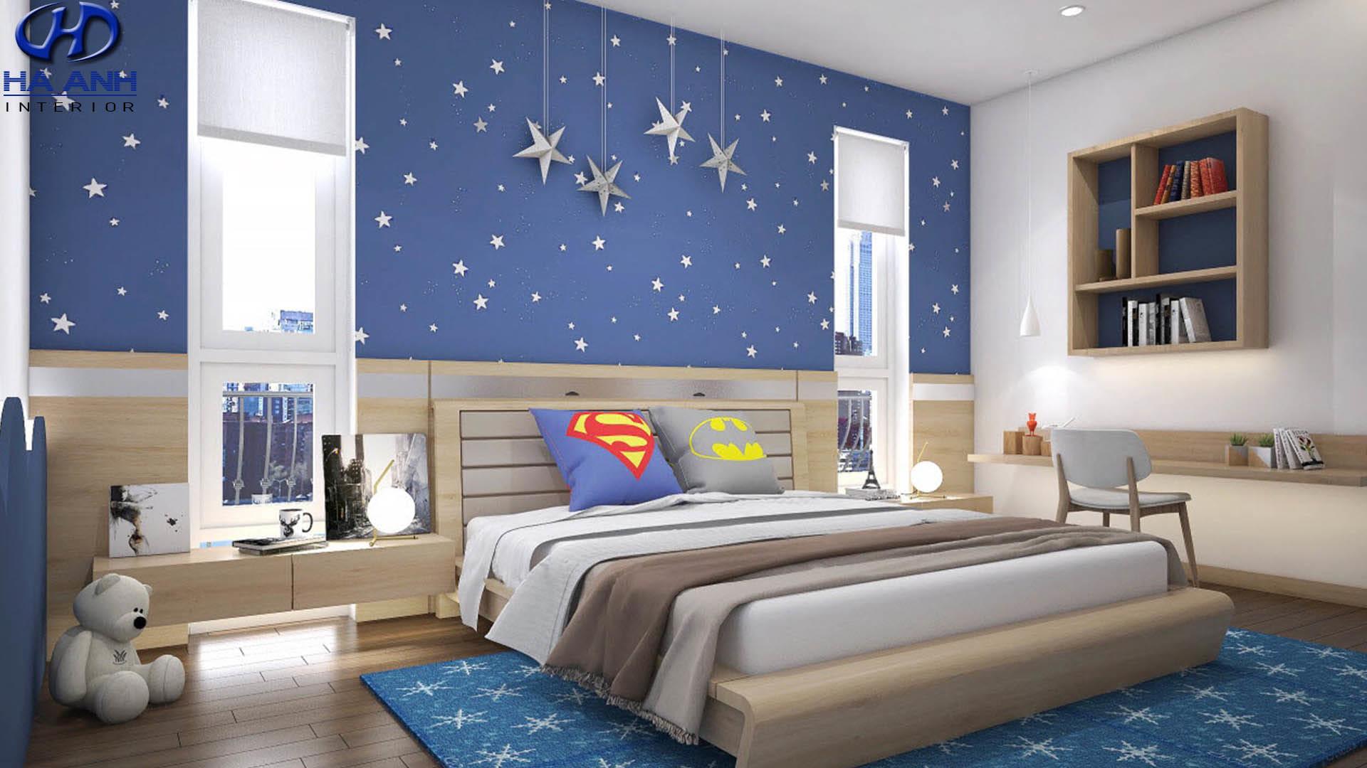 mẫu phòng ngủ dành cho bé trai