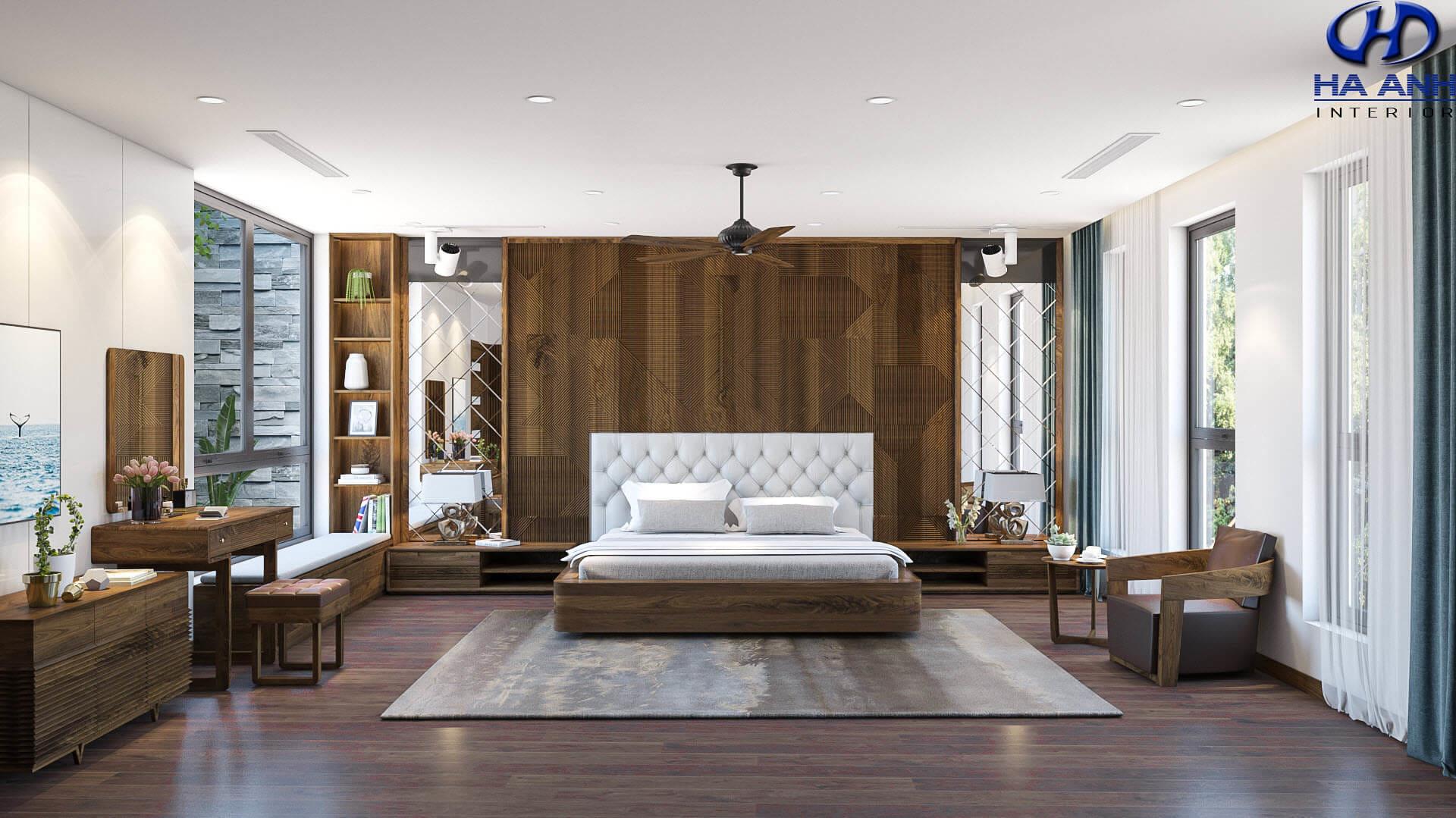 Mẫu phòng ngủ master biệt thự Louis