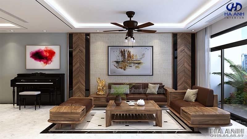 Mẫu thiết kế sofa hiện đại cho phòng khách chung cư cao cấp
