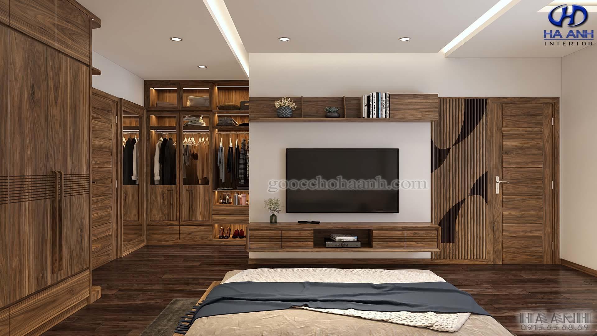 Nội thất gỗ óc chó nhà anh Đức - Hải Phòng