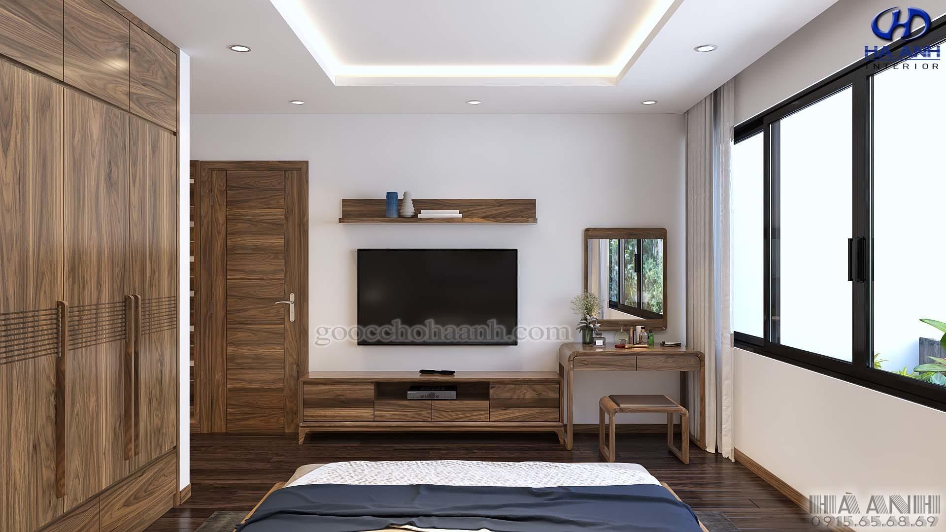 Nội thất gỗ óc chó nhà anh Sơn - Mandarin