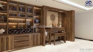 Tủ rượu gỗ óc chó HB 903 view 1
