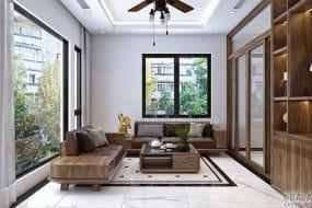 Mẫu Sofa gỗ óc chó HK 609