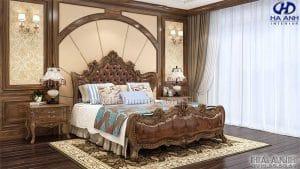 Giường ngủ tân cổ điển gỗ óc chó HNC 603