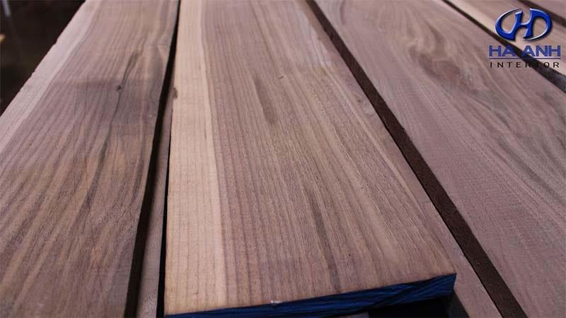 gỗ óc chó nhập khẩu của nội thất hà anh