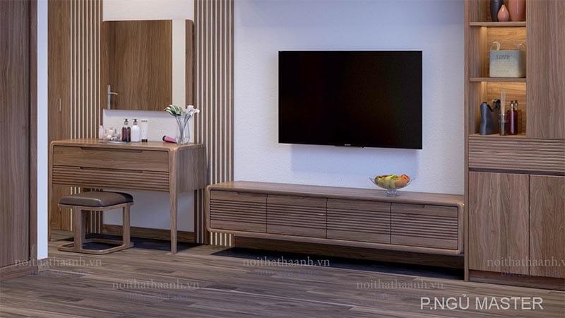 Sản phẩm nội thất gỗ óc chó Hà Anh đẳng cấp hiện đại