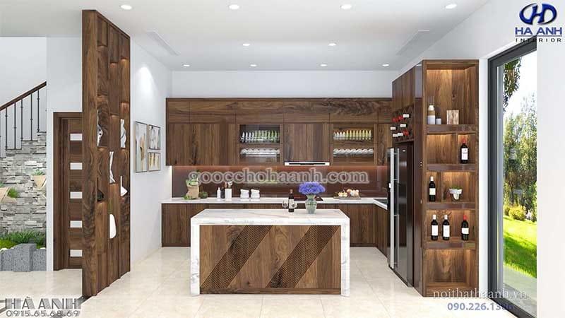 Quầy bar gỗ óc chó HB 503
