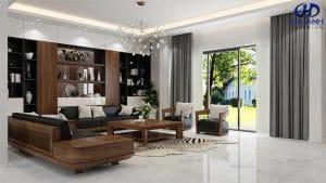Mẫu Sofa Gỗ Óc Chó HK 061