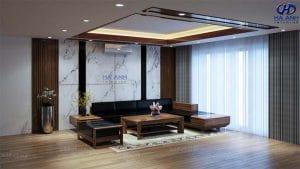 Mẫu Sofa gỗ óc chó HK 602