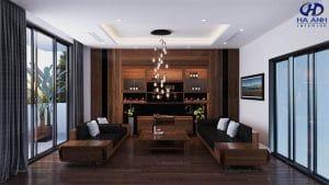 Mẫu Sofa gỗ óc chó HK 603