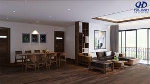 Mẫu Sofa gỗ óc chó HK 604