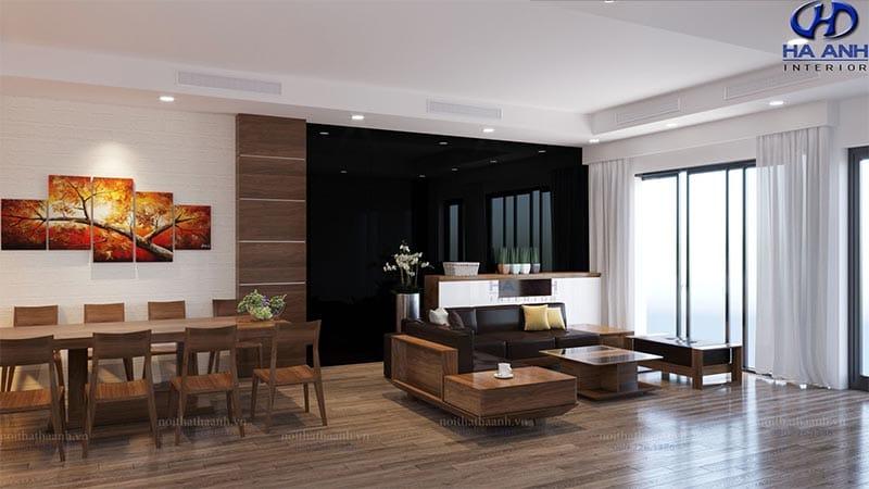 Mẫu Sofa gỗ óc chó HK 606