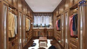 Tủ áo tân cổ điển gỗ óc chó HNC 903