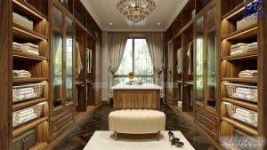 Tủ áo tân cổ điển gỗ óc chó HNC 904