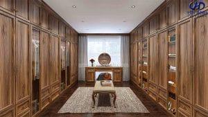 Tủ áo tân cổ điển gỗ óc chó HNC 905