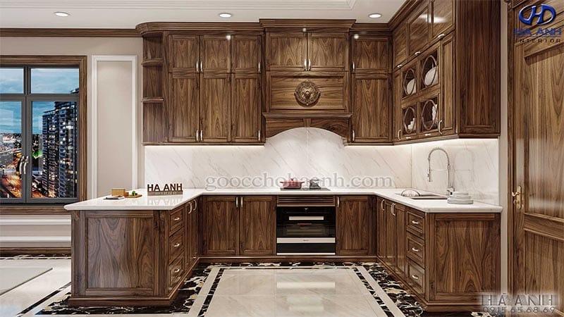 Tủ bếp tân cổ điển HBC 601