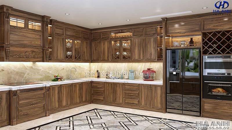 Tủ bếp tân cổ điển HBC 602
