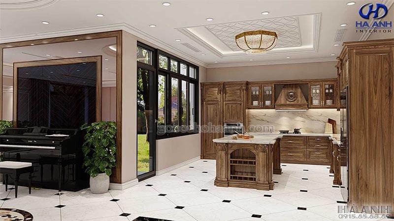 Tủ bếp tân cổ điển HBC 603