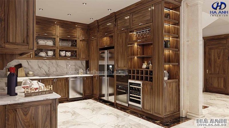 Tủ bếp tân cổ điển HBC 604