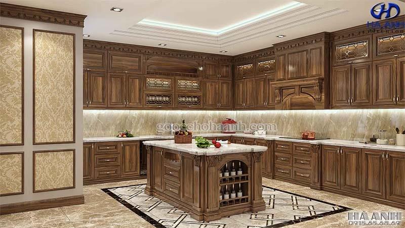 Tủ bếp tân cổ điển HBC 605
