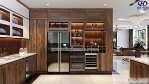 Mẫu Tủ rượu gỗ óc chó HB 902