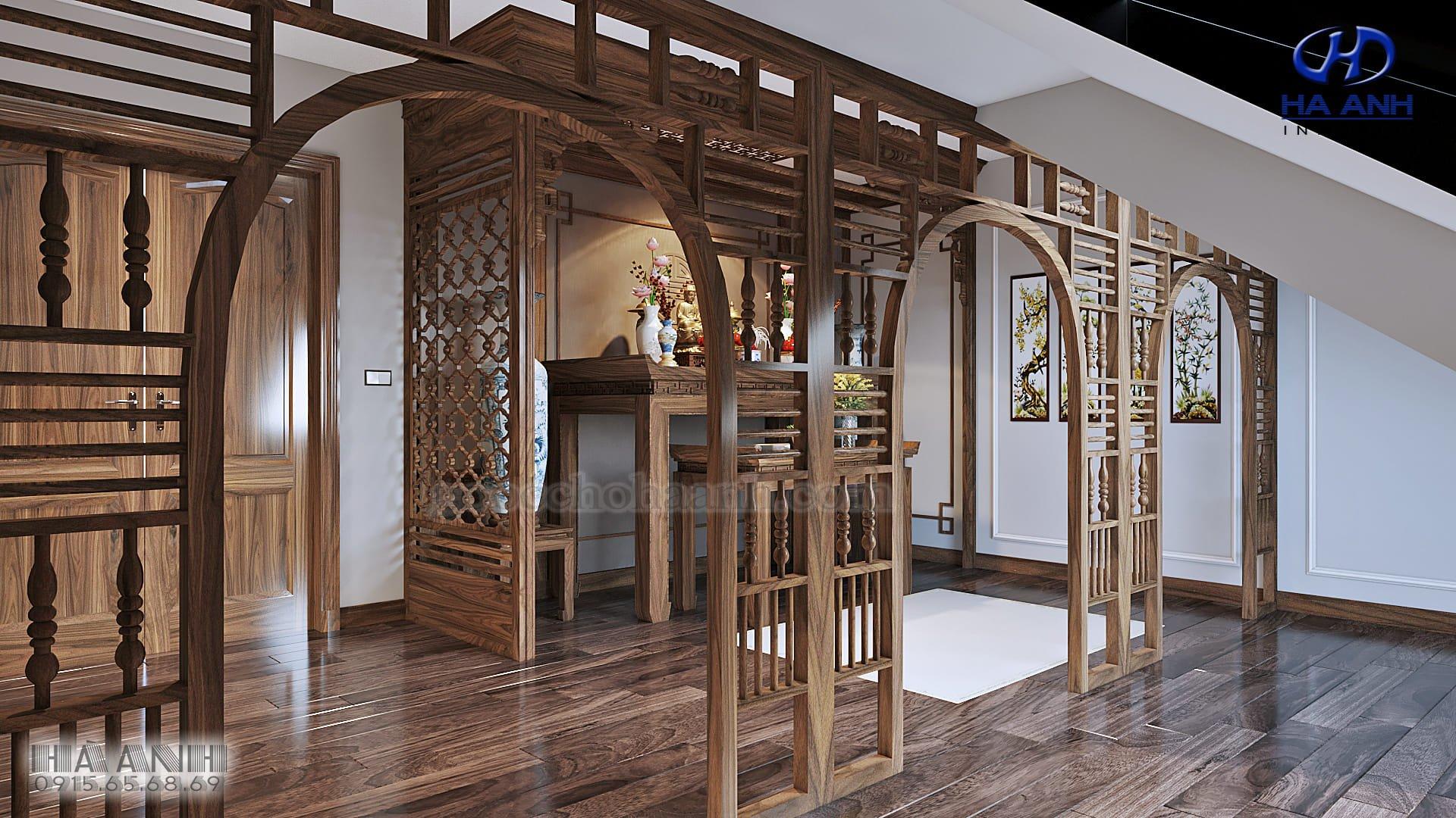 thiết kế phòng thờ hợp phong thủy