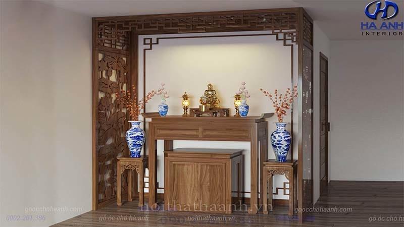 Thiết kế tủ thờ phù hợp không gian phòng thờ