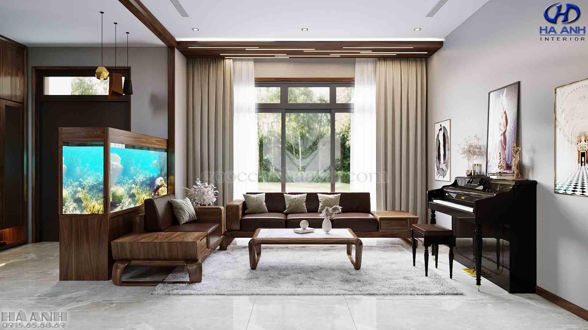 ưu điểm nổi bật của sofa gỗ óc chó