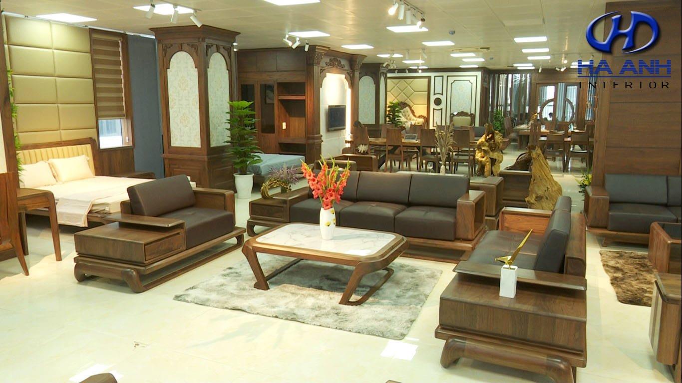 Showroom nội thất gỗ óc chó Hà Anh
