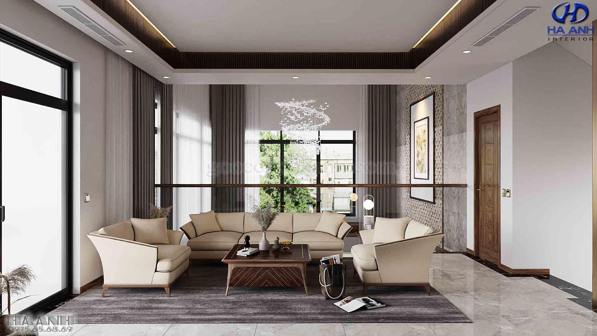 Mẫu Sofa Hiện Đại CHo Không Gian Phòng Khách